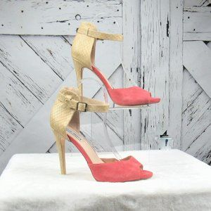 Steve Madden Shiri Stilettos with a Coral Suede